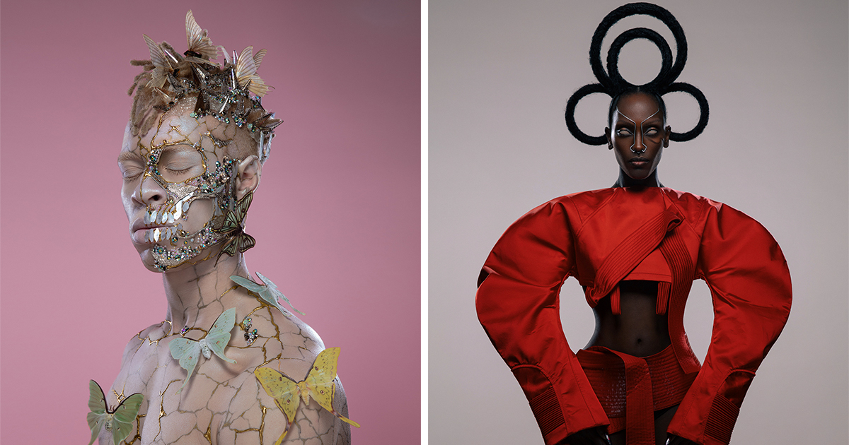 Elaborate Fashions and Hairstyles Explore Beauty and Power in Photographer Luke Nugent's Lavish Portraits