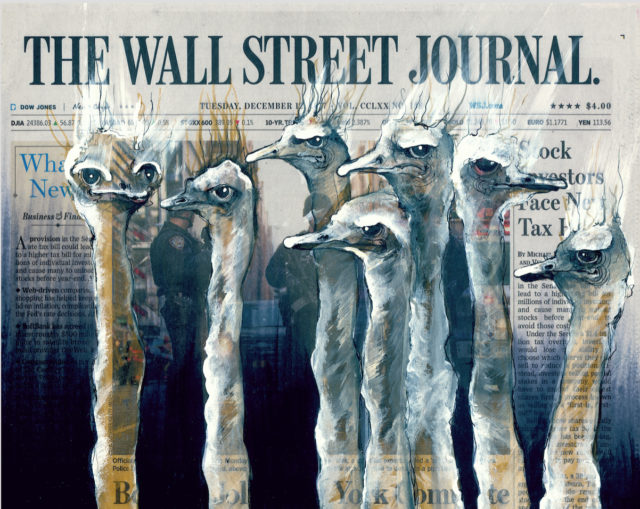 Painted on Front Pages, Lisa Törner's Evocative Animals Astutely Comment on Major News Stories
