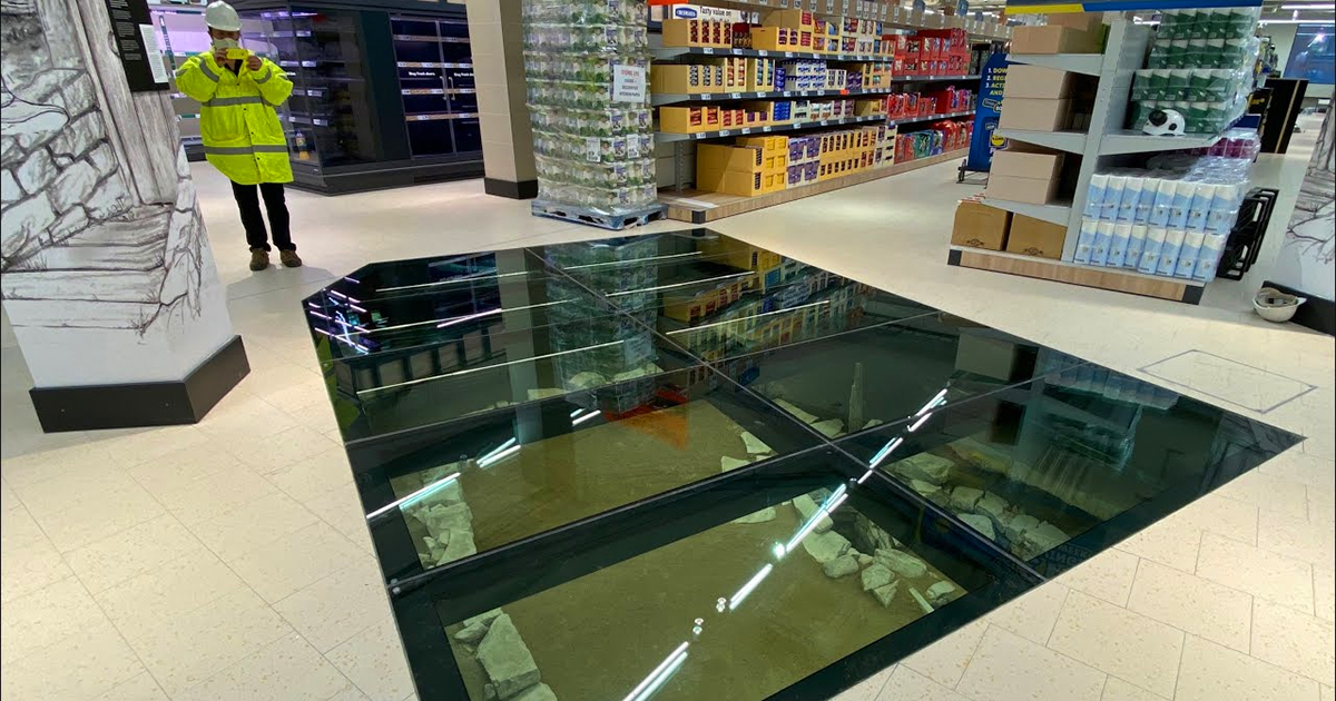 A Glass Floor in a New Dublin Grocery Opens a Window to Medieval Viking History