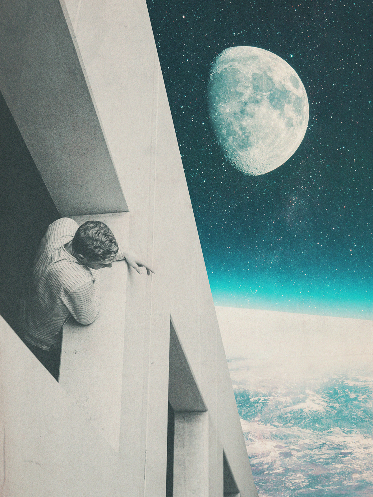 The Past, Future, and Playful Collide in Digital Collages by Anonymous Duo Frank Moth