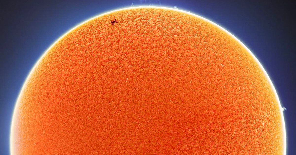 Stunning Photographs Capture the International Space Station Traveling Across the Sun and Moon