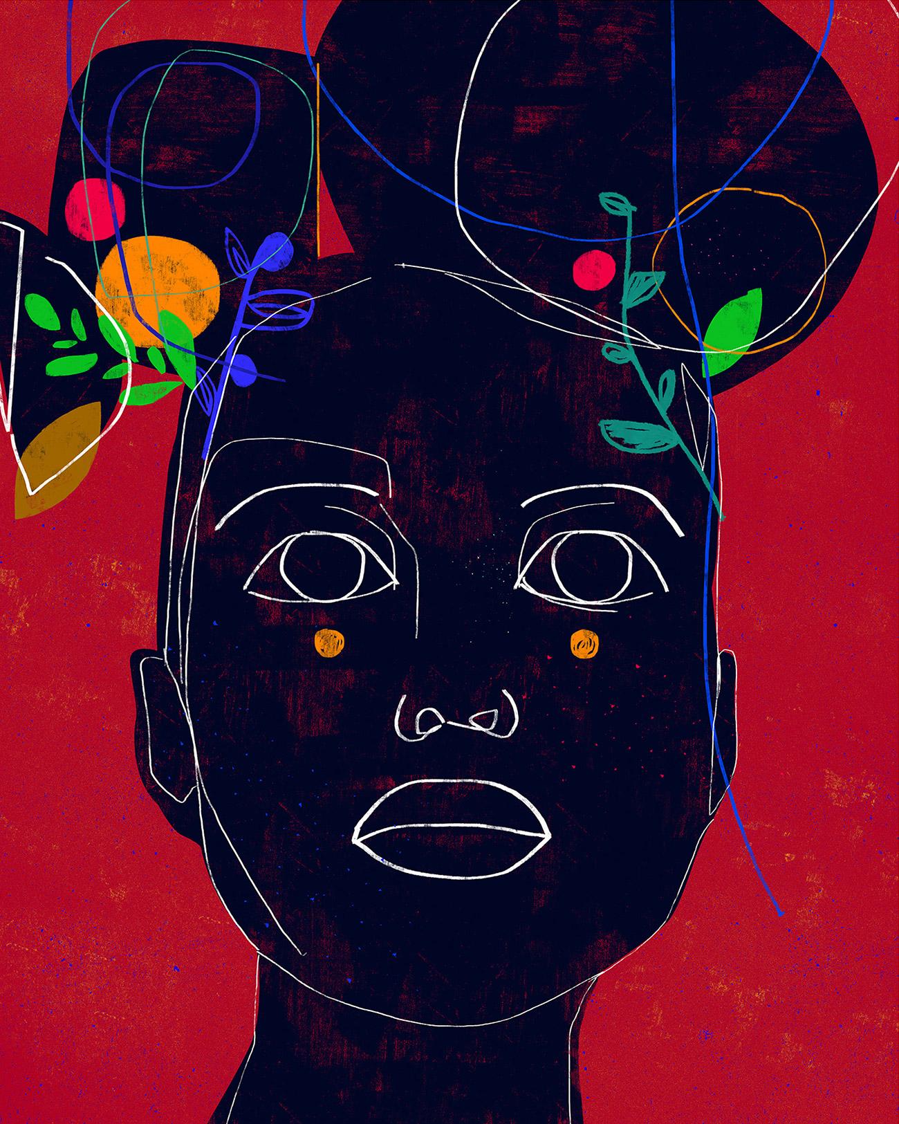 Retratos Minimalistas e Coloridos de Luciano Cian Artes & contextos cian 3