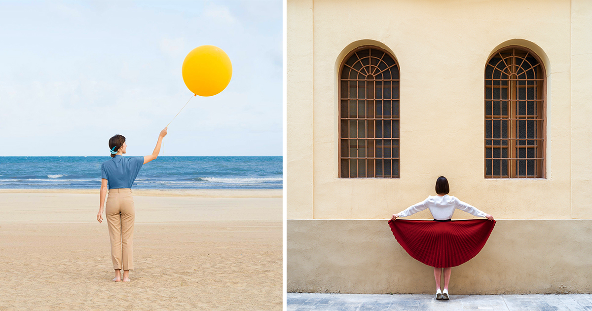 Precise Compositions by Daniel Rueda and Anna Devís Turn Architecture into Playful Portraits