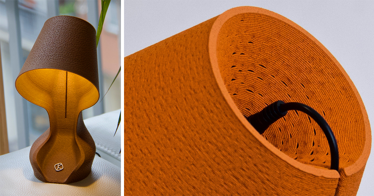 A Compostable Lamp Made from 3D-Printed Orange Peels Proposes a Sustainable Use for Food Waste