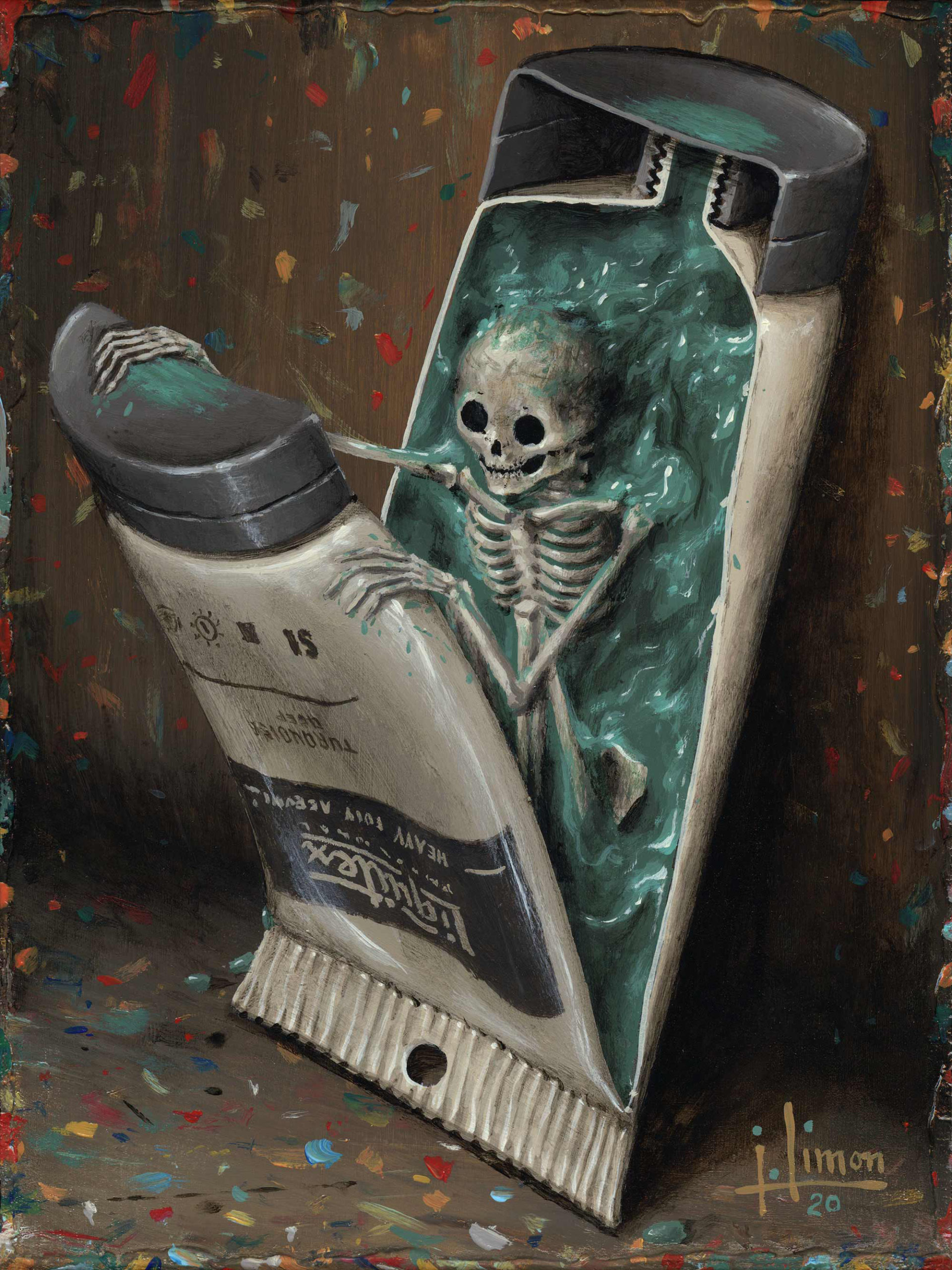 Otherworldly Paintings Trap Skeletons in Perpetually Bizarre and Eerie Situations