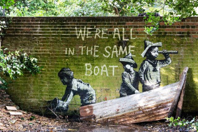 'A Great British Spraycation': New Works by Banksy Cheekily Interpret Summer Vacation