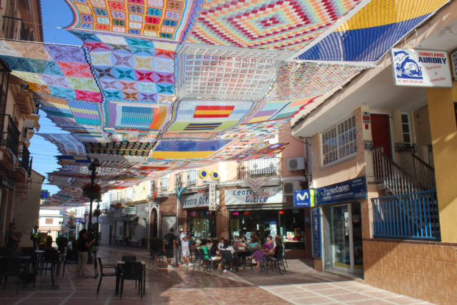 A Massive Crocheted Canopy Provides Shade for a Shopping District in Malaga