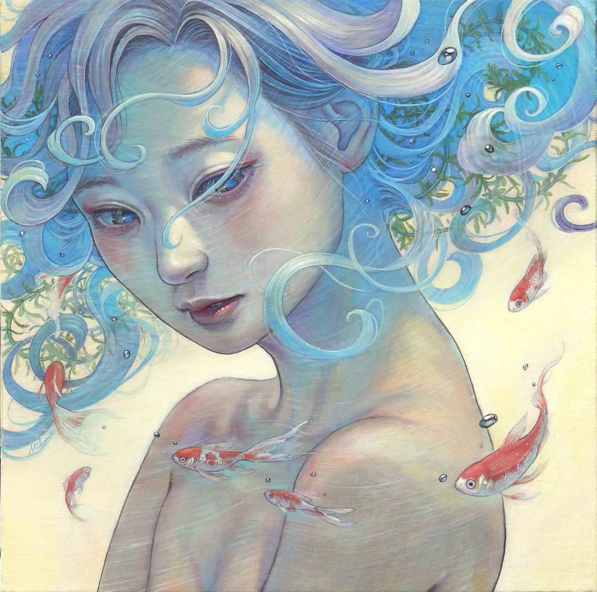 Flora and Fauna Intertwine with Strands of Hair in Miho Hirano's Dreamy Portraits